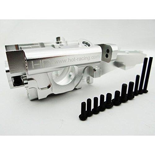 Hot Racing RVO1308 Aluminum Rear Bulkhead for Traxxas E-Revo and Revo 3.3, Silver