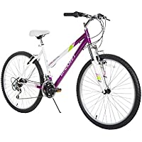 Dynacraft Speed Alpine Eagle Bicicleta de Carretera y montaña, 21 velocidades, 26 Pulgadas, Morado/Blanco/Verde