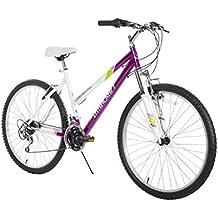 """Dynacraft Speed Alpine Eagle Womens Road/Mountain 21 Speed Bike 26"""", Purple/White/Green"""