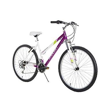 Dynacraft Women's 26  21 Speed Alpine Eagle Bike, 19 /One Size, Purple/White