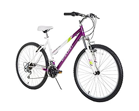 Dynacraft Speed Alpine Eagle Womens Road/Mountain 21 Speed Bike 26', Purple/White/Green