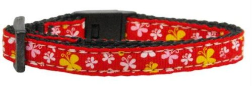 Butterfly Nylon Ribbon Collar Red Cat Safety Case Pack 24 Butterfly Nylon Rib... by DSD