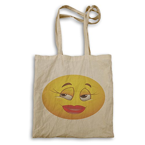 Smiley Carino Labbra Rosse Faccia Novità Divertente Vintage Tote Bag A313r