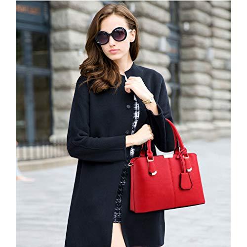 Superior del del Moda De Bolso De Crossbody Bolso Bolso Billetera del La Bolso Grande Green Red Color De Diseño Mujer La Grande wnpFqP6