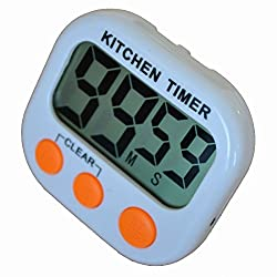 Niceroker LCD Digital Kitchen Cooking Clock Count-down up Loud Alarm Timer Orange