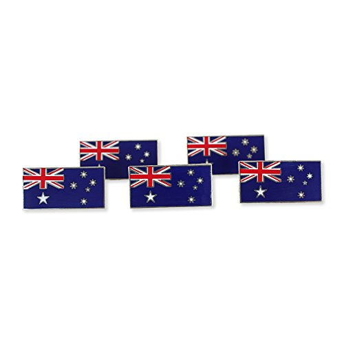 Australian Flag Blue Ensign Union Jack Australia Lapel Pin - 41qCsogXFlL. SS500 - Getting Down Under Jewelry
