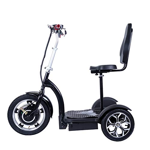 City Hopper 3-Wheel Electric Scooter with 16-inch Front Wheel, 500W Brushless Motor and 48V - 12AH Battery