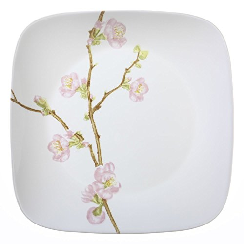 "Blossom Cherry Plate (Corelle Square Cherry Blossom 10.25"" Dinner Plate (Set of 4))"