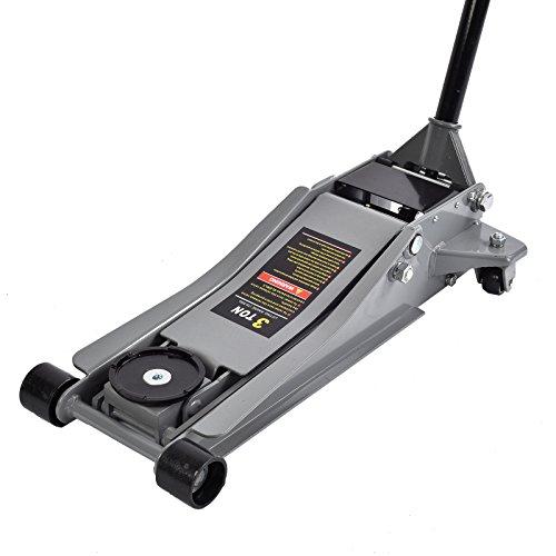 Jack Auto Floor (SUNCOO Floor Jack Stands Ultra Low Profile Heavy Duty Steel with Rapid Pump Quick Lift 3 Ton)