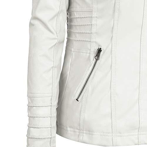 Autunno Giacca Slim Moquit Giubbotto Chiodo Giacchetto Biker Retrò Inverno Bianco In Di Donna E Moda Moto Pelle 5xqwBzSP