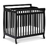 DaVinci Emily 2-in-1 Mini Crib and Twin Bed in Ebony | Greenguard Gold Certified