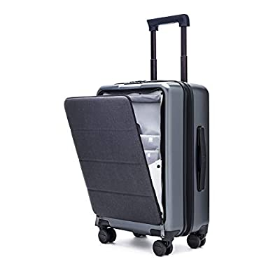 """Xiaomi Carry On Luggage 20"""" Front Pocket Spinner Business Double TSA Locks No Key Cabin Size Premium PC 90FUN"""