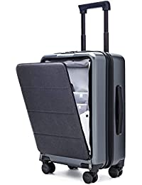 "Xiaomi Carry On Luggage 20"" Front Pocket Spinner Business Double TSA Locks No Key Cabin Size Premium PC 90FUN"