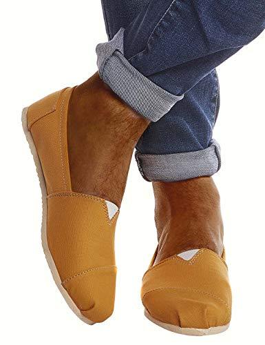 Leif Nelson Herren Espadrilles Gestreifte Schuhe für Freizeit Urlaub Freizeitschuhe für Sommer Weiße leichte Flache Männer Sommerschuhe Sneaker Weiße Schuhe für Jungen Latschen Slipper LN101SS