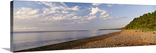 Canvas On Demand Premium Thick-Wrap Canvas Wall Art Print entitled Michigan, Rocky coastline on Lake Superior (Coastline Outdoor Furniture)