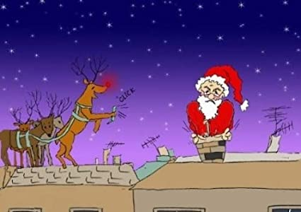 Immagini Natale Umoristiche.Babbo Natale Bloccato Nel Camino Stagionale Simpatico Ed