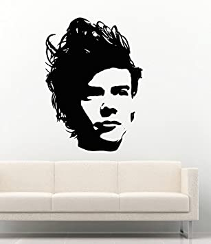Wall Decals Harry Styles One Direction Pop Band Music Decor Vinyl Stickers  MK0893