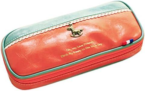 Ursprüngliche Bleistift-Kasten-kosmetische Beutel-große Kapazitäts-Grün/Orange, 20 * 4 * 8.5CM