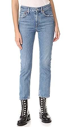 AGOLDE Women's Cigarette Low Slung Straight Leg Jeans, Passenger, 24