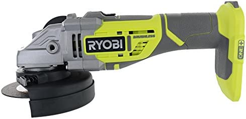 Ryobi Cordless Angle Grinder P423 Brushless Grinding Wheel Side Handle Tool