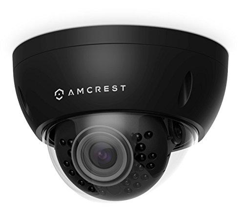 Amcrest ProHD Outdoor 3 Megapixel POE Vandal Dome IP Security Camera – IP67 Weatherproof, IK10 Vandal-Proof, 3MP 2048 TVL , IP3M-956E Black