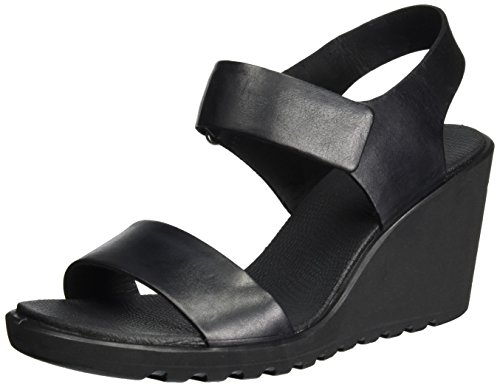 ECCO Women's Freja Wedge Sandal Black KwtNmU