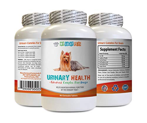 MY LUCKY PETS LLC Dog Urinary Gold - Dog Urinary Health Formula - Helps with Incontinence and Bladder Issues - Immune Boost - Cranberry Pills for Dogs - 1 Bottle (90 Treats)