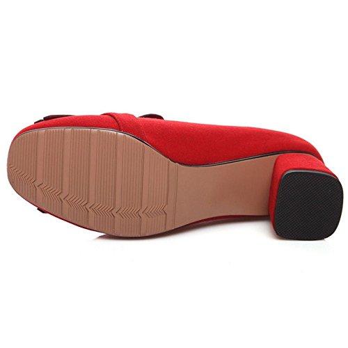 Coolcept Talons Chaussures Rouge Femmes Talon Mid à la Carré Mode rrcW61R