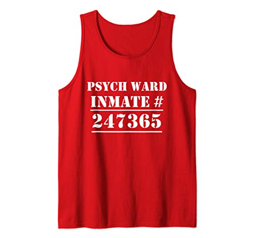 Psych Ward Costume Mental Patient Inmate Halloween Tank Top -