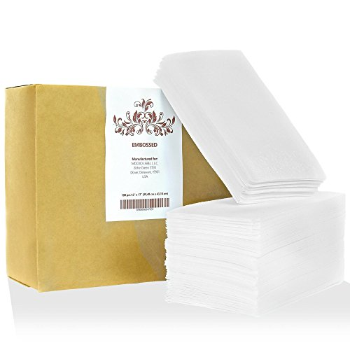 Look Napkins - MOCKO Disposable Hand Napkins: 100 Absorbent Air-Laid Paper Bathroom Guest Towels, Floral Embossed Cloth-Like Soft Hand Towels, Elegant White For Birthday & Cocktail Parties, Dinners, Events, Weddings