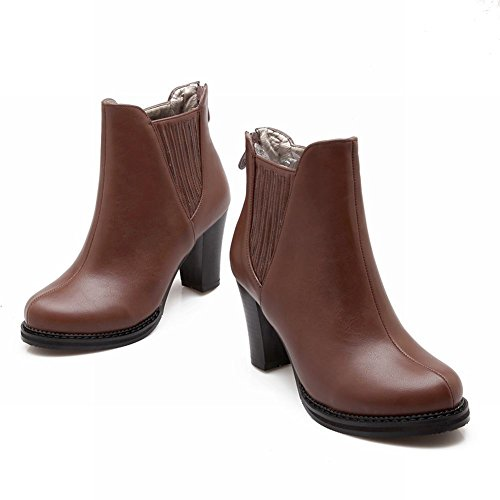 Latasa Womens Fashion High-heel Platform Ankle High Chelsea Boots Brown wd9bs