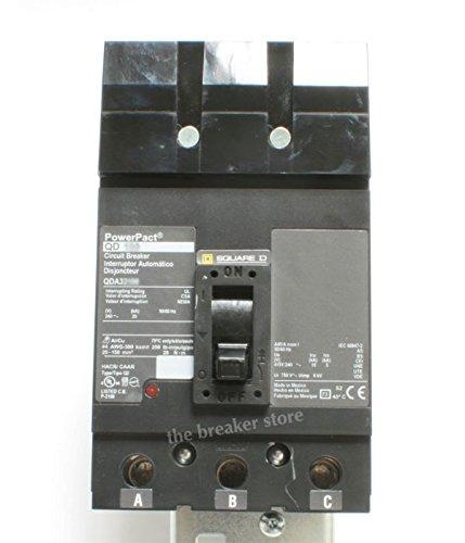 QDA32100 SQUARE D ILINE Molded Case Circuit Breaker (Q-Frame) 100A, 3-Pole, I-Line Plug-On, ABC, 240 Vac, QD 100, POWERPACT, 25K, QDA