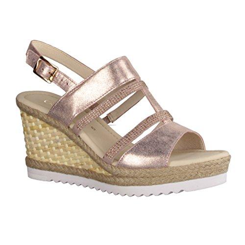 Gabor 45791-64 - Zapatos De Mujer Sandalias De Tacón Alto / Honda, Varios colores, cuero (metalizado eclisse/samtchev