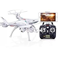 Simply Silver - Quadcopter - Syma X5SW-V3 2.4G RC Headless Quadcopter Drone with 0.3MP HD Wifi Camera
