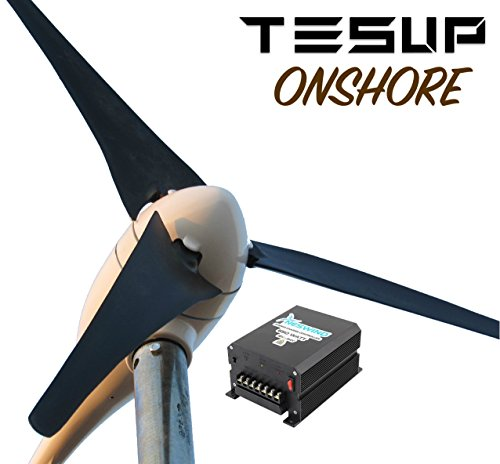 24V N-300 Wind Turbine + 12/24V 650W Wind & Solar Charge Controller (made in Europe) by TESUP