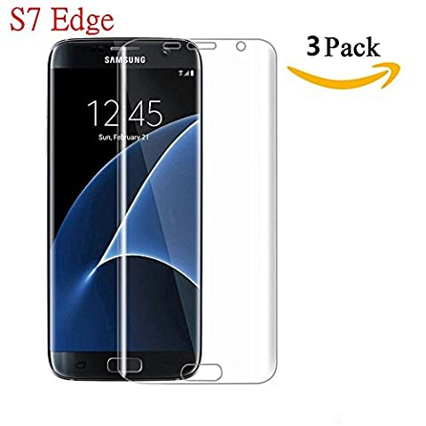 Samsung Galaxy S7 Edge Screen Protector, Asstar [Full Screen Coverage Protector] , [3 Pack] Premium Ultra Slim High Definition Phone Film Only for Samsung Galaxy S7 Edge (Screen Film)