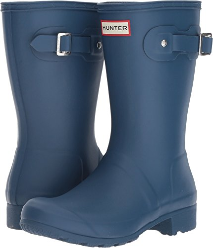 Hunter Women's Original Tour Short Packable Rain Boots Dark Earth Blue 7 M US by Hunter