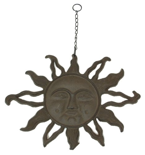 - Imzi home Large Cast Iron Hanging Sun Face