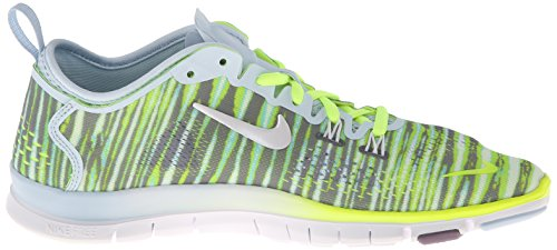 Nike Women Free 5.0 Tr Fit 4 Print Antarctica / Volt / Purple Steel / White