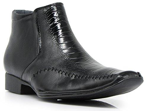 Alligator Romeo On Short Ankle Enzo Print Boots Black Slip Chelsea Crocodile Prague02 Mens d1aWaqt