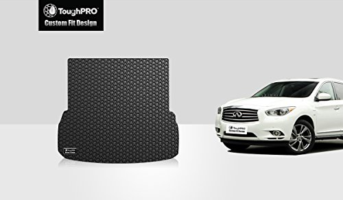 ToughPRO Infiniti QX60 Cargo Mat - All Weather - Heavy Duty -Black Rubber - (2014-2015-2016-2017-2018-2019)