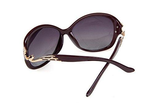Libre Manera Gafas de de al Gafas Señora 3 Sol Sol Gafas Ruikey Con de la Estilo de Marco Aire Polarizadas de Gran de la Sol gqUx6Ud1