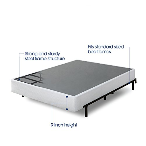 (Zinus Armita 9 Inch High Profile Smart Box Spring / Mattress Foundation / Strong Steel Structure / Easy Assembly Required,)