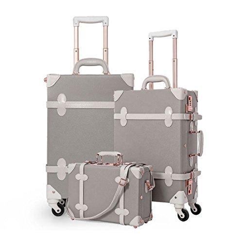 vintage luggage with wheels - 2