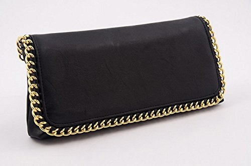 Borsa clutch, Clotilde Nera, in eco pelle