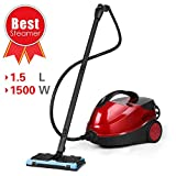 SIMBR Steam Cleaner, Steam Mop 1500W 4.5 Bar Steamer Multifunctional with 17 Accessories