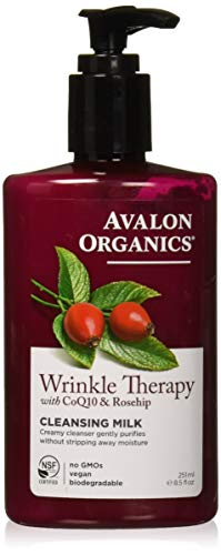 Avalon Organics Wrinkle Therapy CoQ10 Cleansing Milk, 8.50 oz (Pack of ()