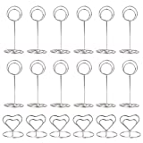 36 Pieces Sliver Table Number Holders, Wedding Place Card Holder, Table Picture Holder Wire Photo Holder Menu Memo Clips for Wedding Favors