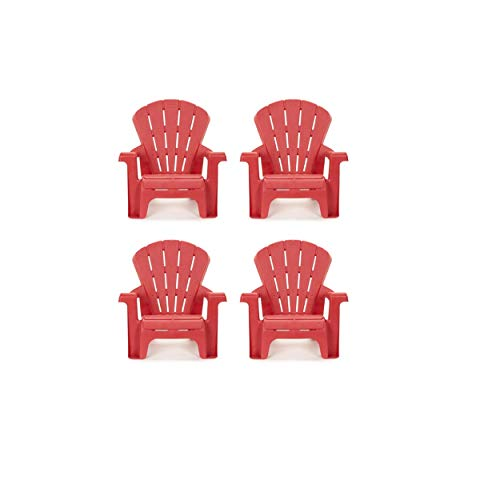 Little Tikes Garden Chair (4 Pack), Red (Chair Plastic Outdoor)