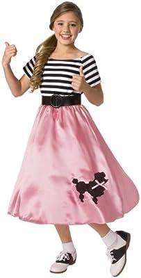 Desconocido Disfraz de los años 50 para niña: Amazon.es: Juguetes ...